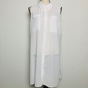 Chico's White Sleeveless Button Down Tunic (2)